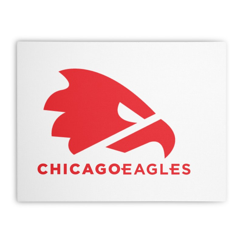Red Eagles Mark Home Stretched Canvas by Chicago Eagles
