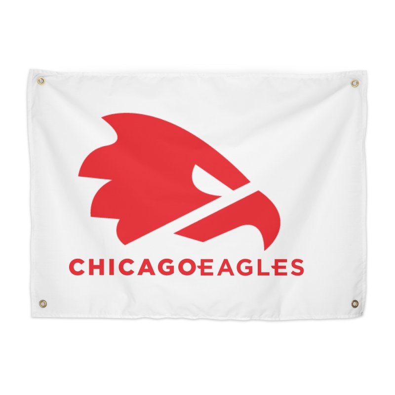 Red Eagles Mark Home Tapestry by Chicago Eagles