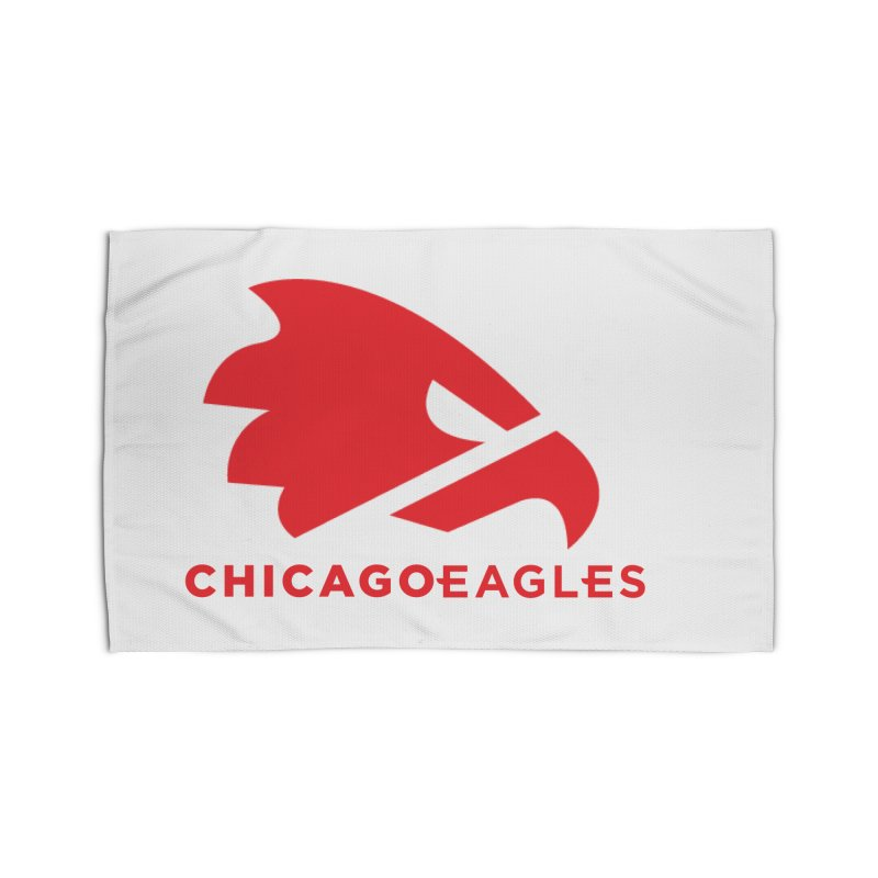 Red Eagles Mark Home Rug by Chicago Eagles