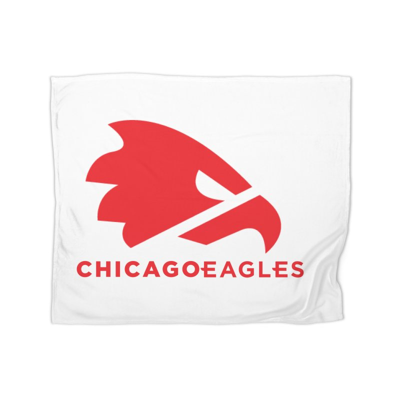 Red Eagles Mark Home Fleece Blanket Blanket by Chicago Eagles
