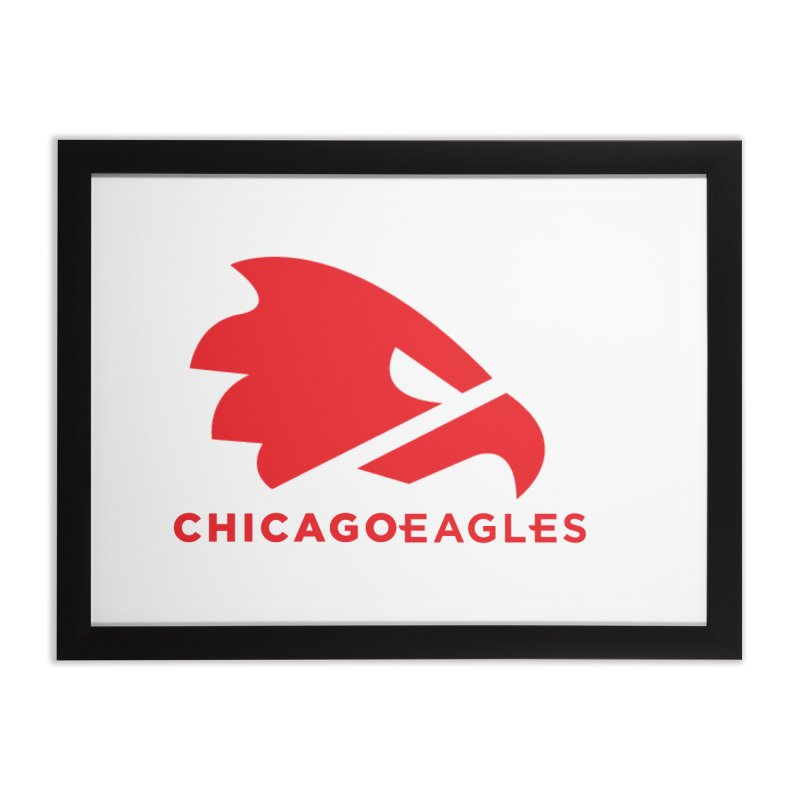 Red Eagles Mark Home Framed Fine Art Print by Chicago Eagles