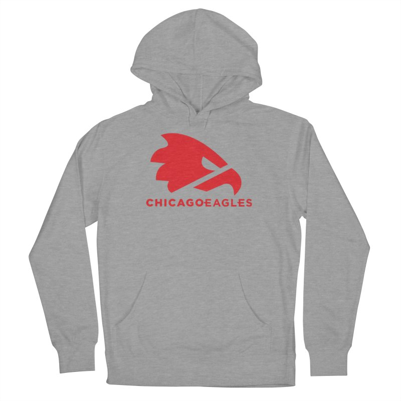 Red Eagles Mark Men's French Terry Pullover Hoody by Chicago Eagles