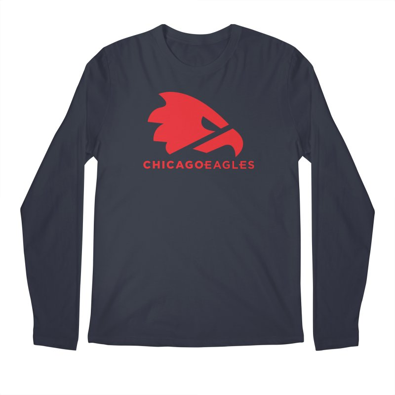 Red Eagles Mark Men's Regular Longsleeve T-Shirt by Chicago Eagles