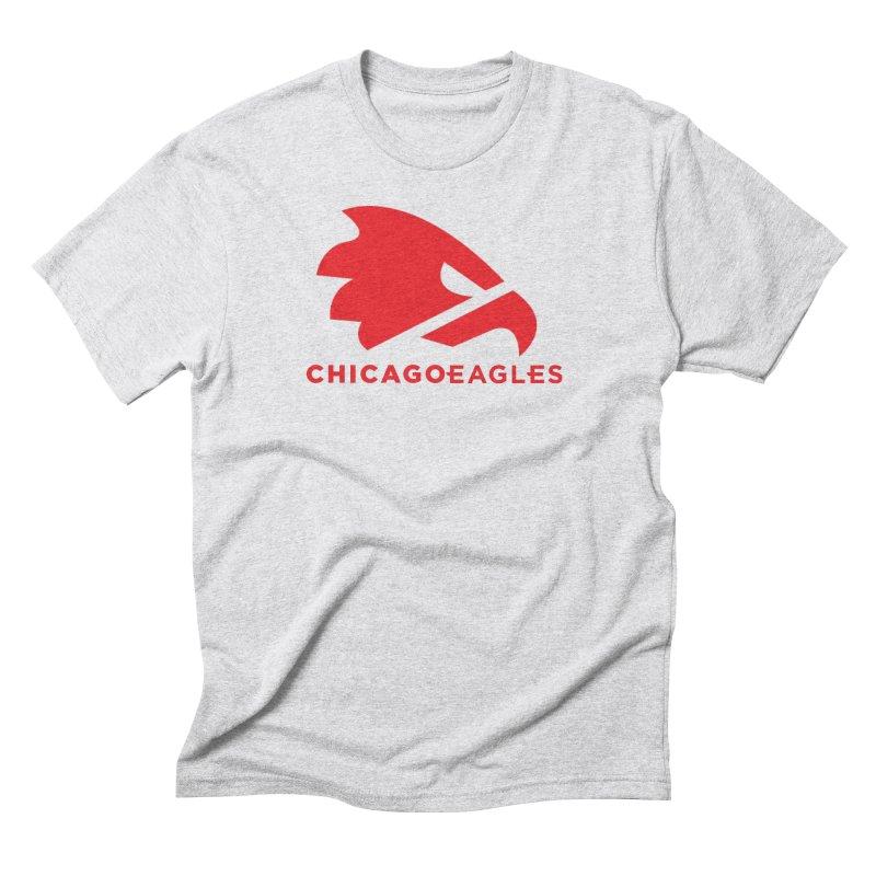 Red Eagles Mark Men's Triblend T-Shirt by Chicago Eagles