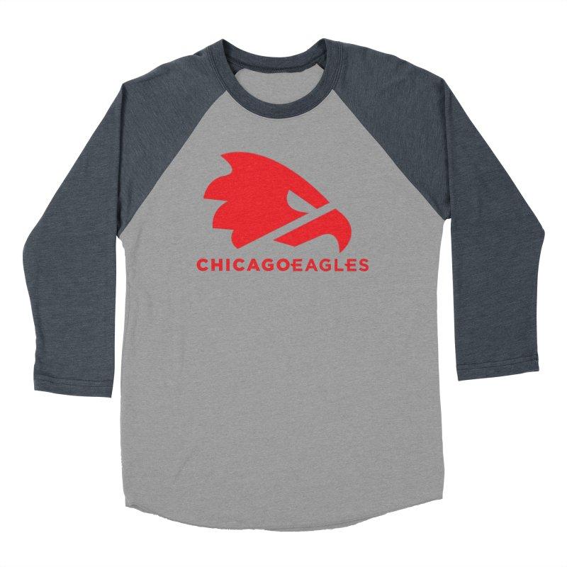 Red Eagles Mark Men's Baseball Triblend Longsleeve T-Shirt by Chicago Eagles