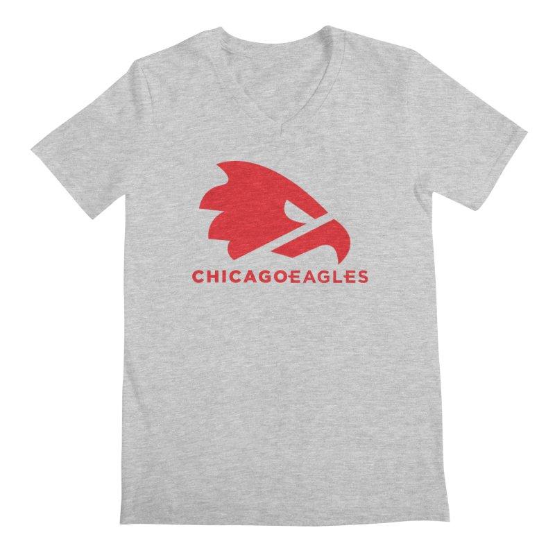 Red Eagles Mark Men's Regular V-Neck by Chicago Eagles