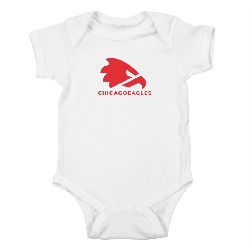 Red Eagles Mark Kids Baby Bodysuit by Chicago Eagles
