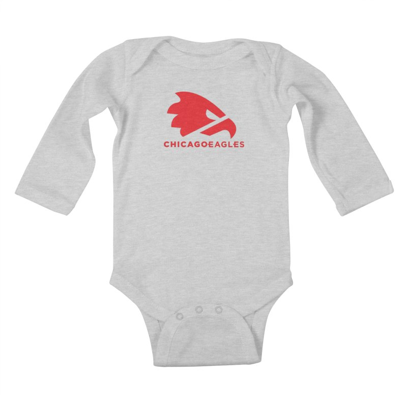 Red Eagles Mark Kids Baby Longsleeve Bodysuit by Chicago Eagles