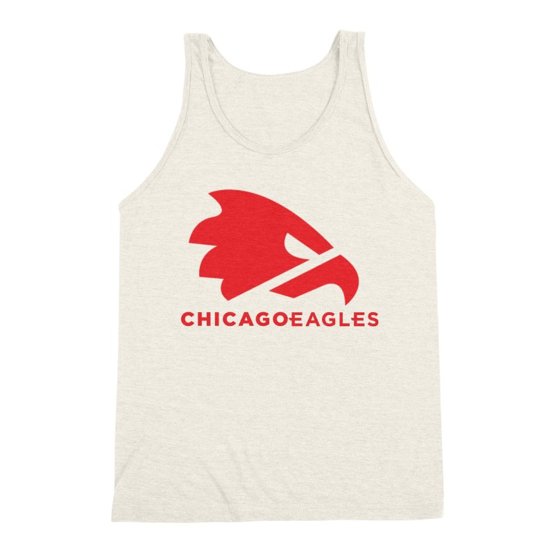 Red Eagles Mark Men's Triblend Tank by Chicago Eagles