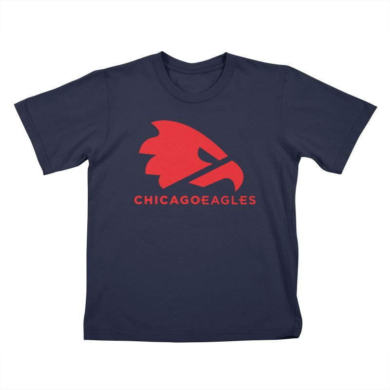 Red Eagles Mark Kids T-Shirt by Chicago Eagles