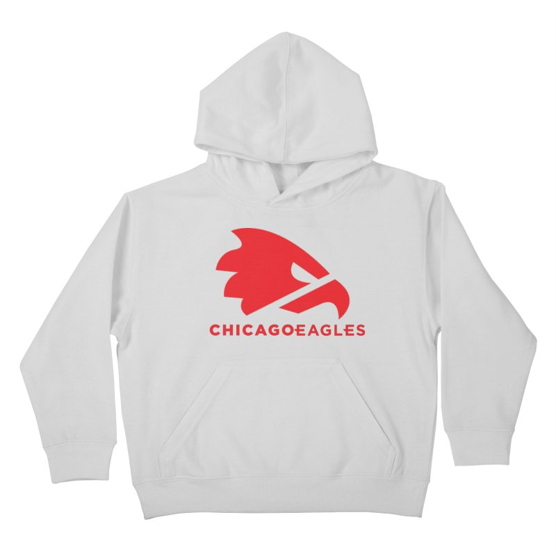 Red Eagles Mark Kids Pullover Hoody by Chicago Eagles