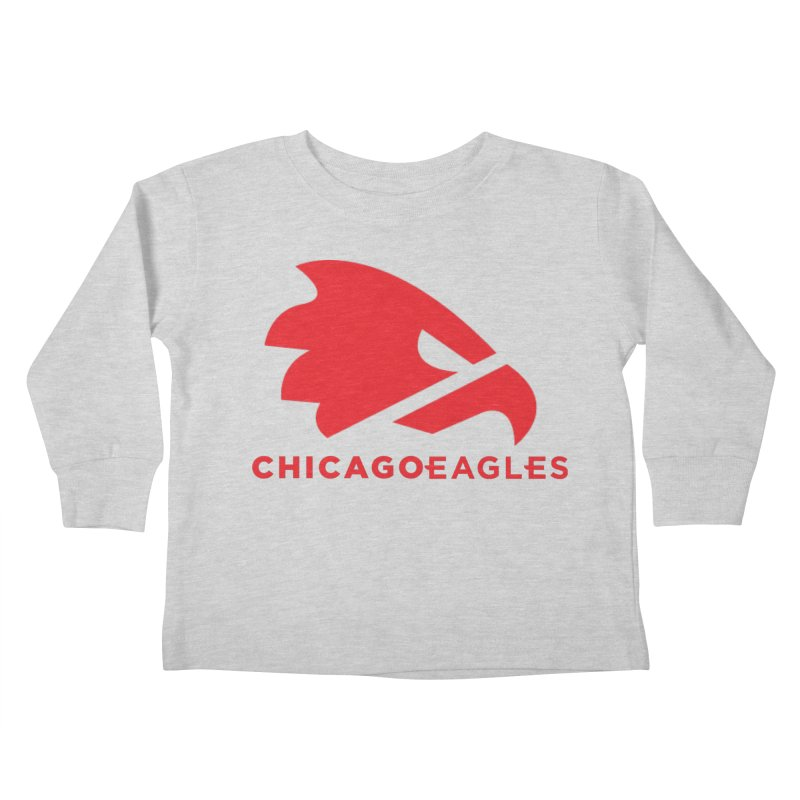 Red Eagles Mark Kids Toddler Longsleeve T-Shirt by Chicago Eagles
