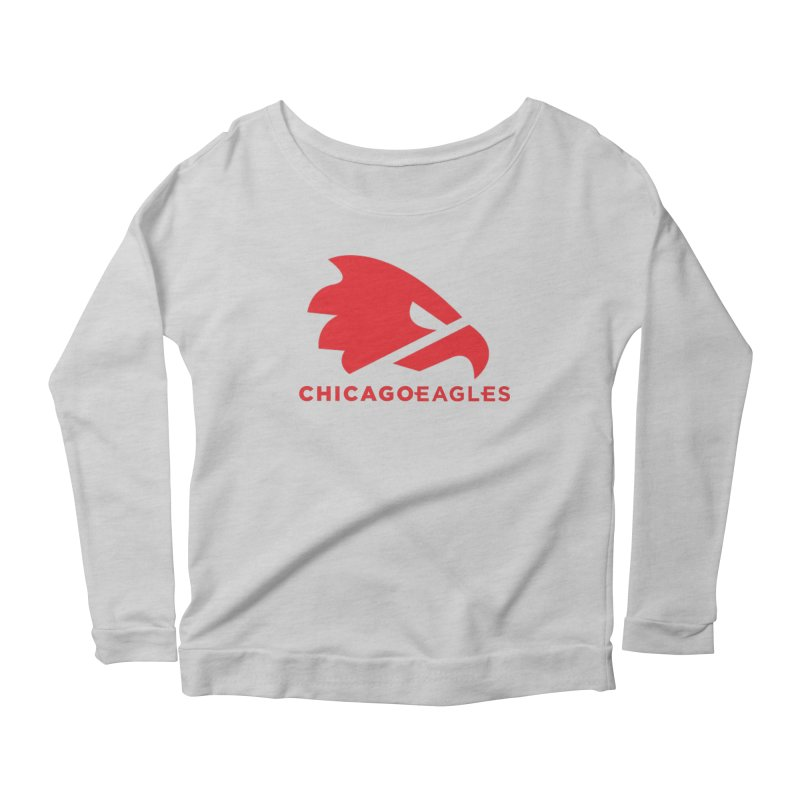 Red Eagles Mark Women's Scoop Neck Longsleeve T-Shirt by Chicago Eagles