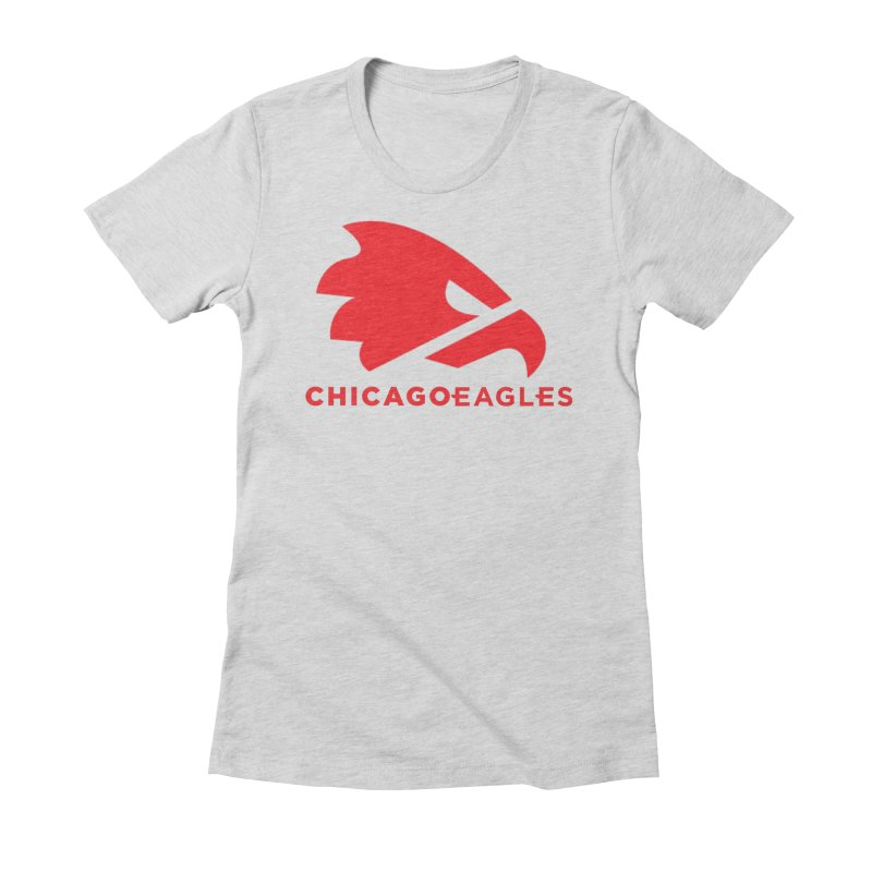 Red Eagles Mark Women's Fitted T-Shirt by Chicago Eagles
