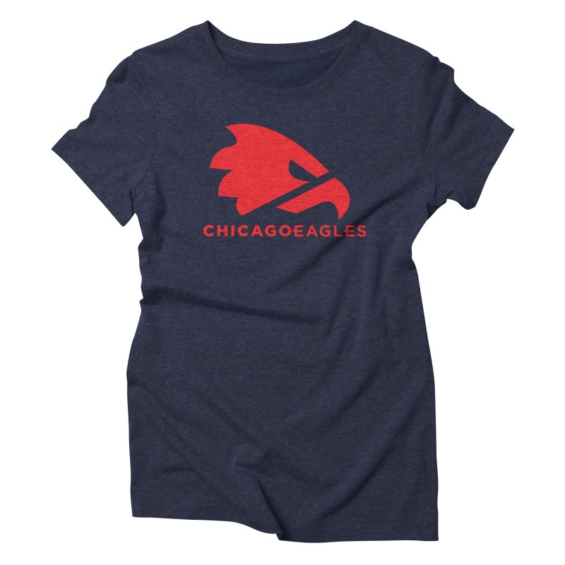 Red Eagles Mark Women's Triblend T-Shirt by Chicago Eagles
