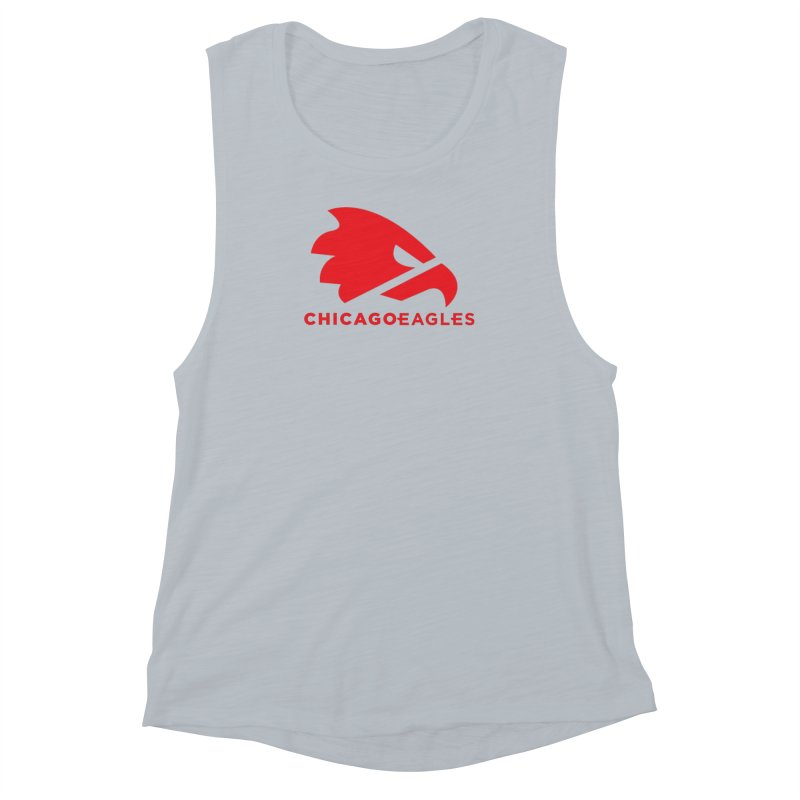 Red Eagles Mark Women's Muscle Tank by Chicago Eagles