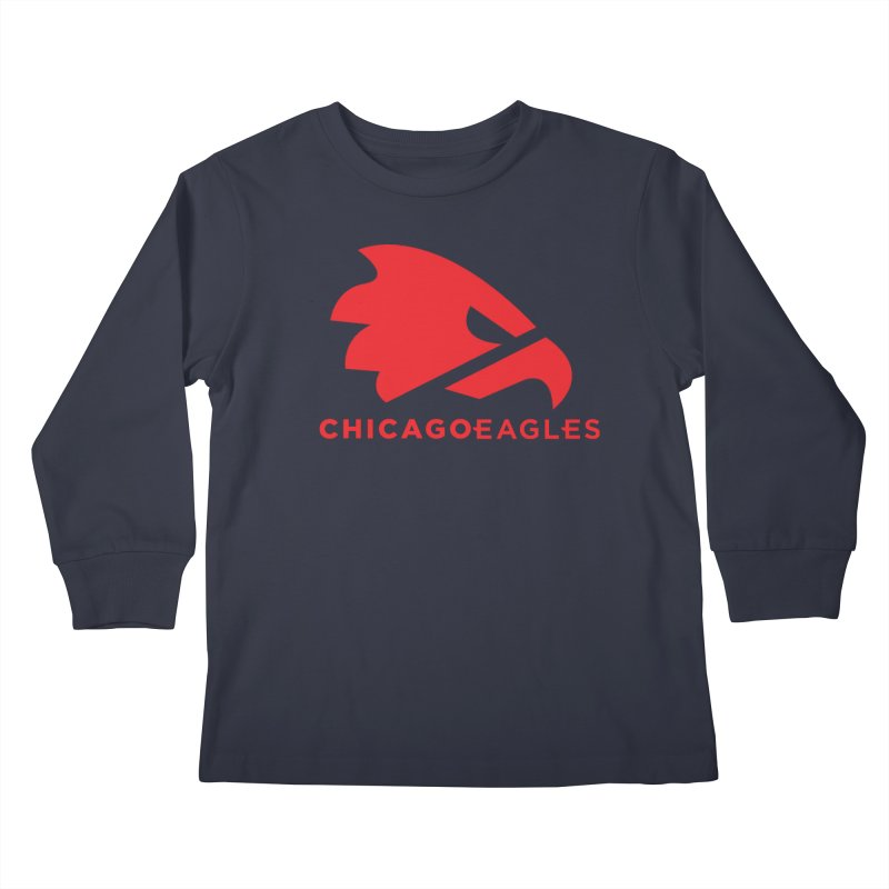 Red Eagles Mark Kids Longsleeve T-Shirt by Chicago Eagles