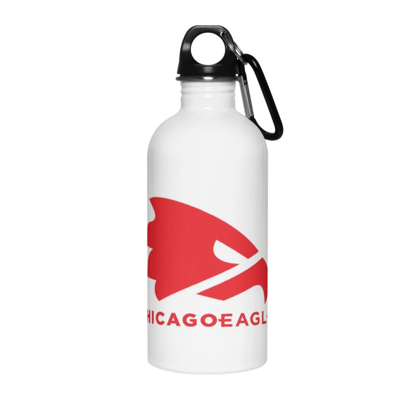 Red Eagles Mark Accessories Water Bottle by Chicago Eagles