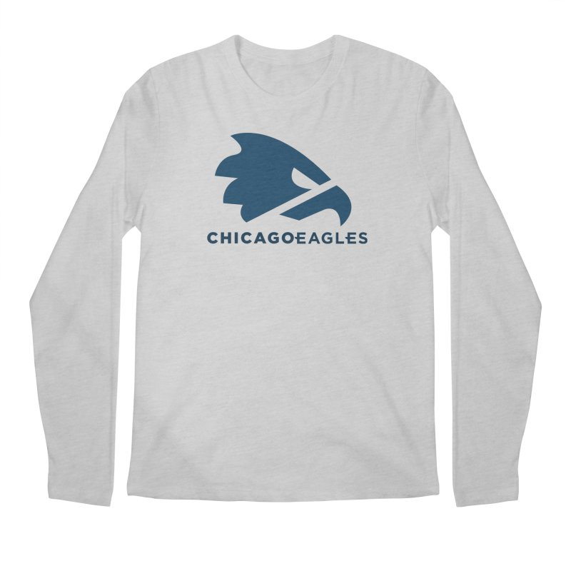 Navy Eagles Mark Men's Regular Longsleeve T-Shirt by Chicago Eagles
