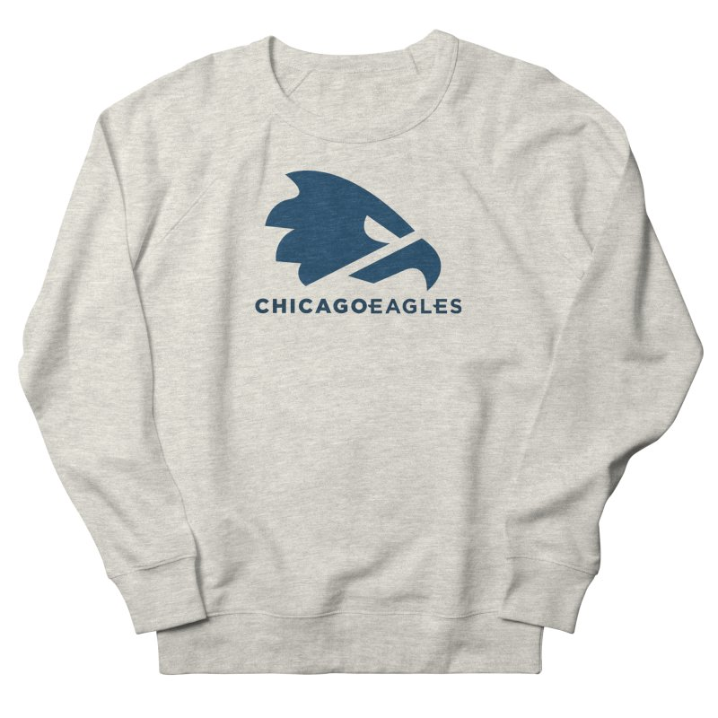 Navy Eagles Mark Women's French Terry Sweatshirt by Chicago Eagles