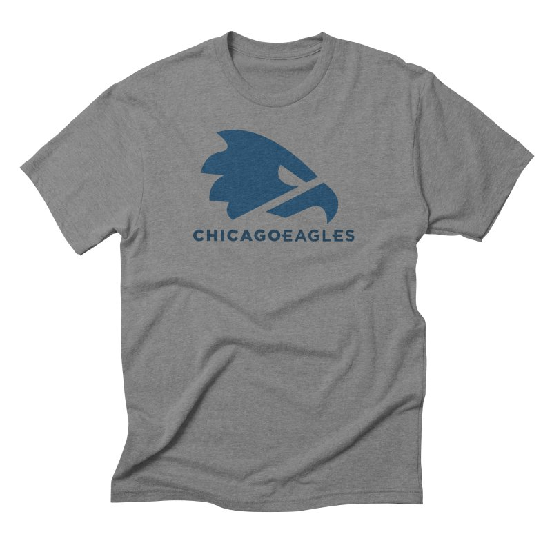 Navy Eagles Mark Men's Triblend T-Shirt by Chicago Eagles