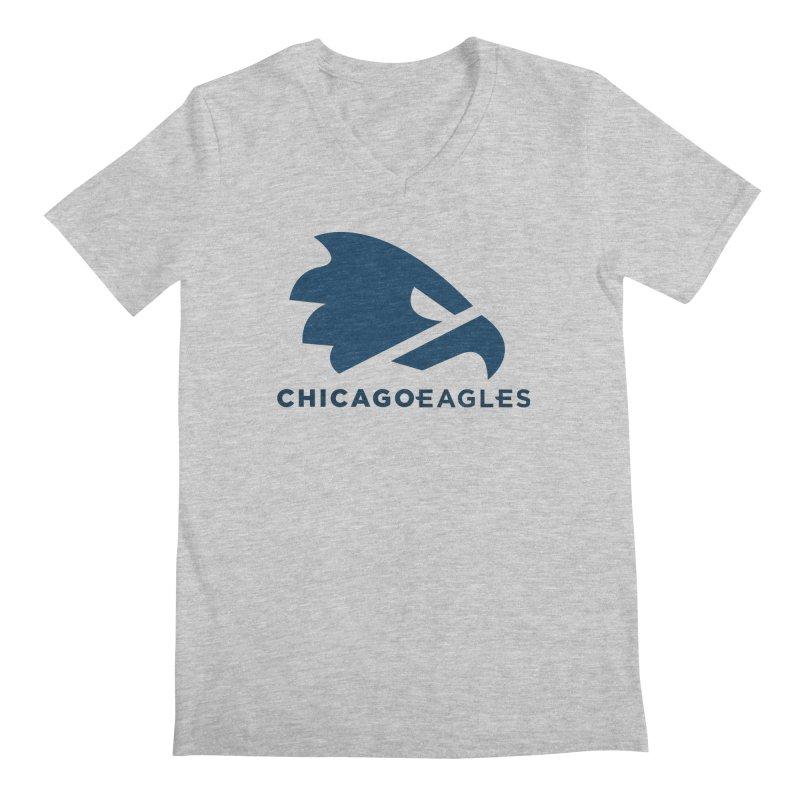 Navy Eagles Mark Men's Regular V-Neck by Chicago Eagles