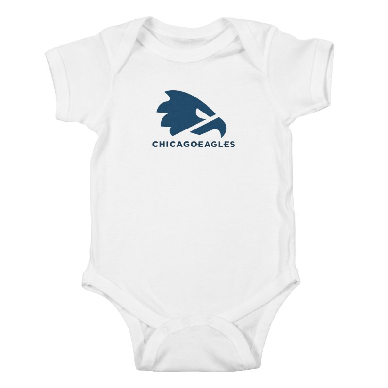Navy Eagles Mark Kids Baby Bodysuit by Chicago Eagles