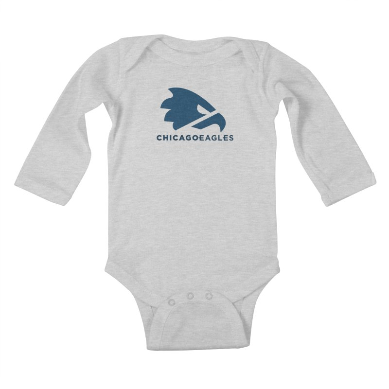 Navy Eagles Mark Kids Baby Longsleeve Bodysuit by Chicago Eagles