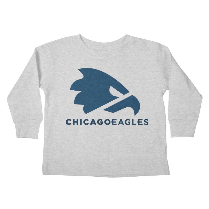 Navy Eagles Mark Kids Toddler Longsleeve T-Shirt by Chicago Eagles