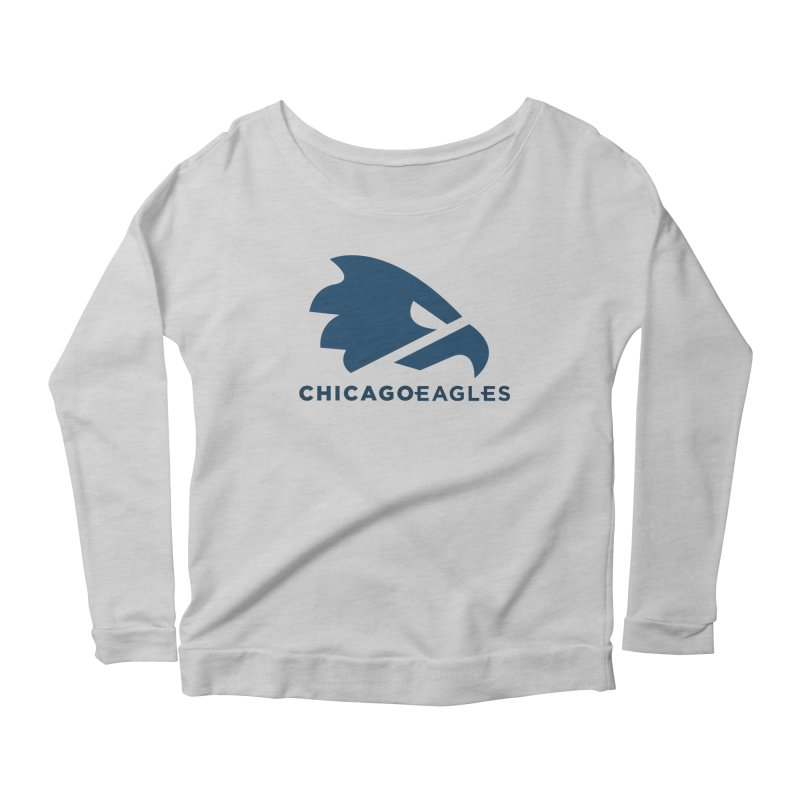 Navy Eagles Mark Women's Scoop Neck Longsleeve T-Shirt by Chicago Eagles