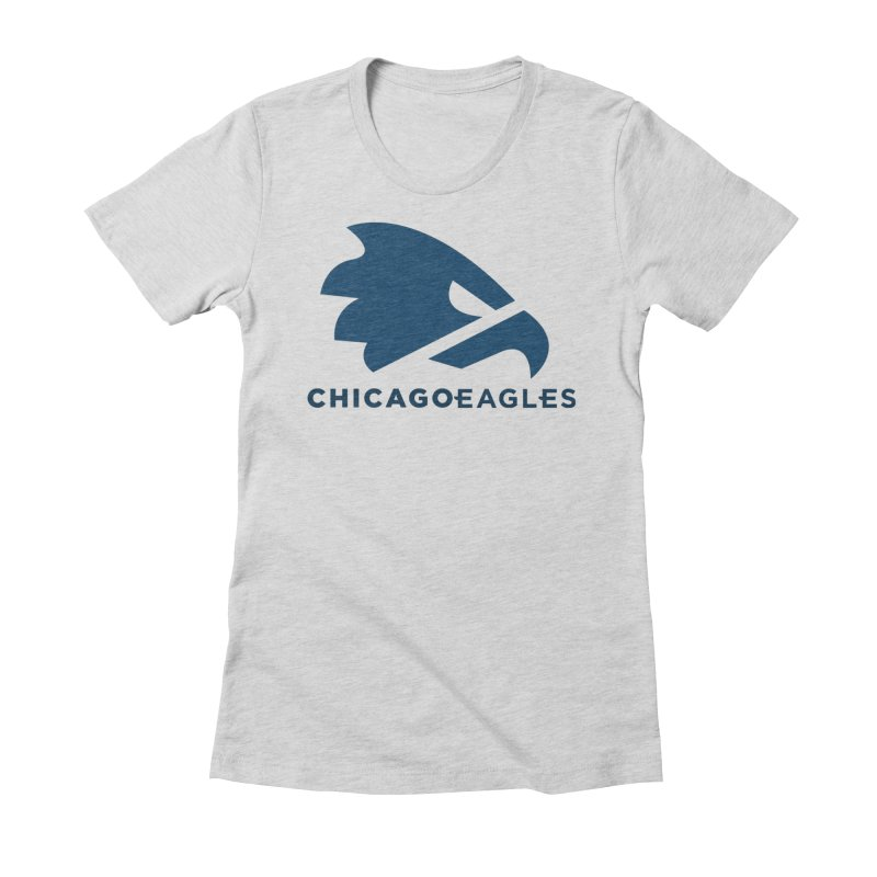 Navy Eagles Mark Women's Fitted T-Shirt by Chicago Eagles