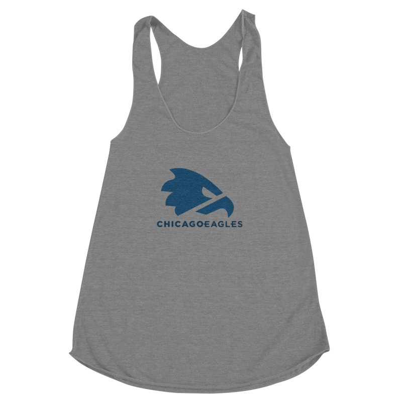 Navy Eagles Mark Women's Racerback Triblend Tank by Chicago Eagles