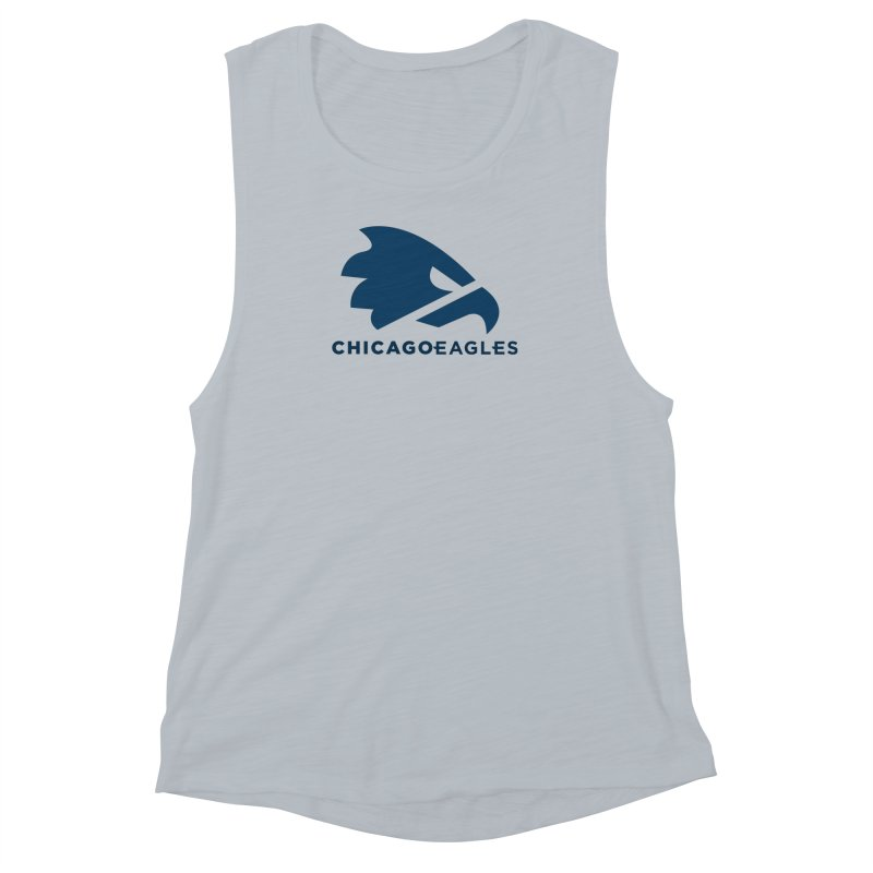 Navy Eagles Mark Women's Muscle Tank by Chicago Eagles