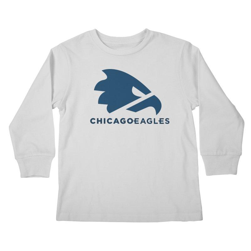 Navy Eagles Mark Kids Longsleeve T-Shirt by Chicago Eagles