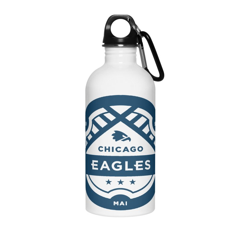 Navy Chicago Eagles Crest Accessories Water Bottle by Chicago Eagles