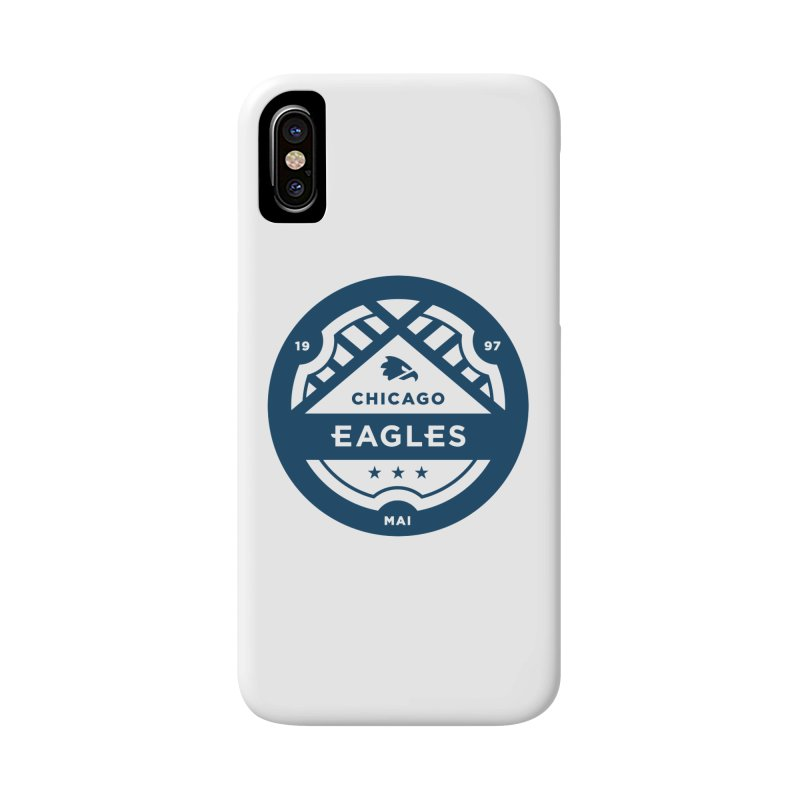 Navy Chicago Eagles Crest Accessories Phone Case by Chicago Eagles