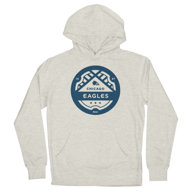 Navy Chicago Eagles Crest Men's French Terry Pullover Hoody by Chicago Eagles