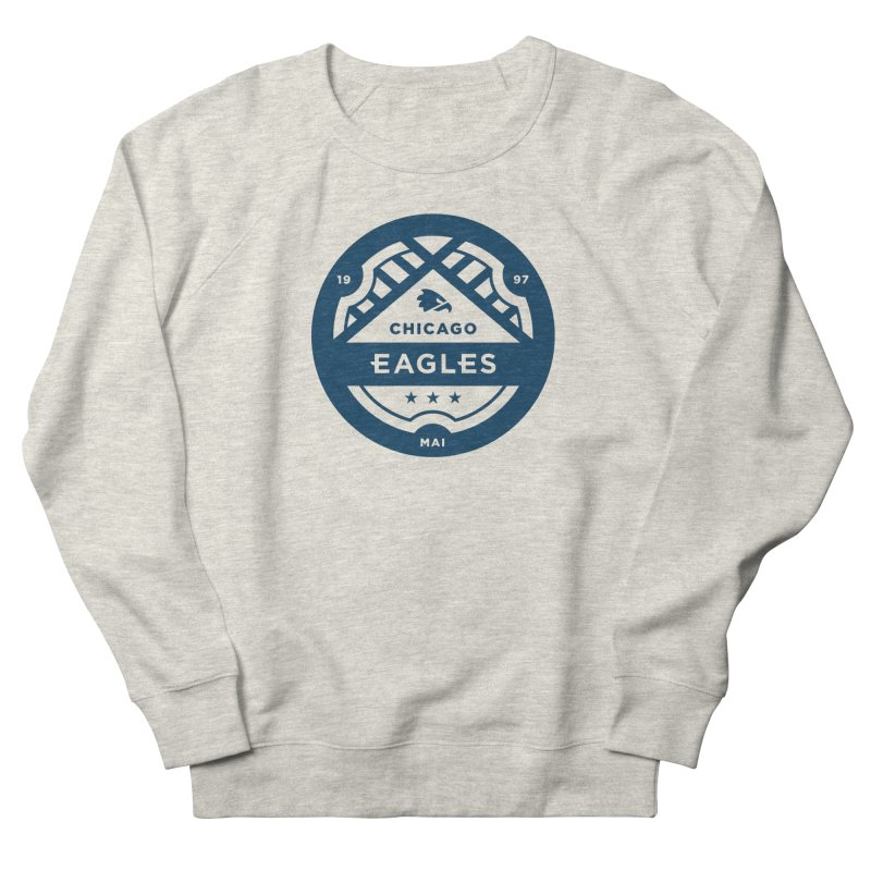 Navy Chicago Eagles Crest Women's French Terry Sweatshirt by Chicago Eagles