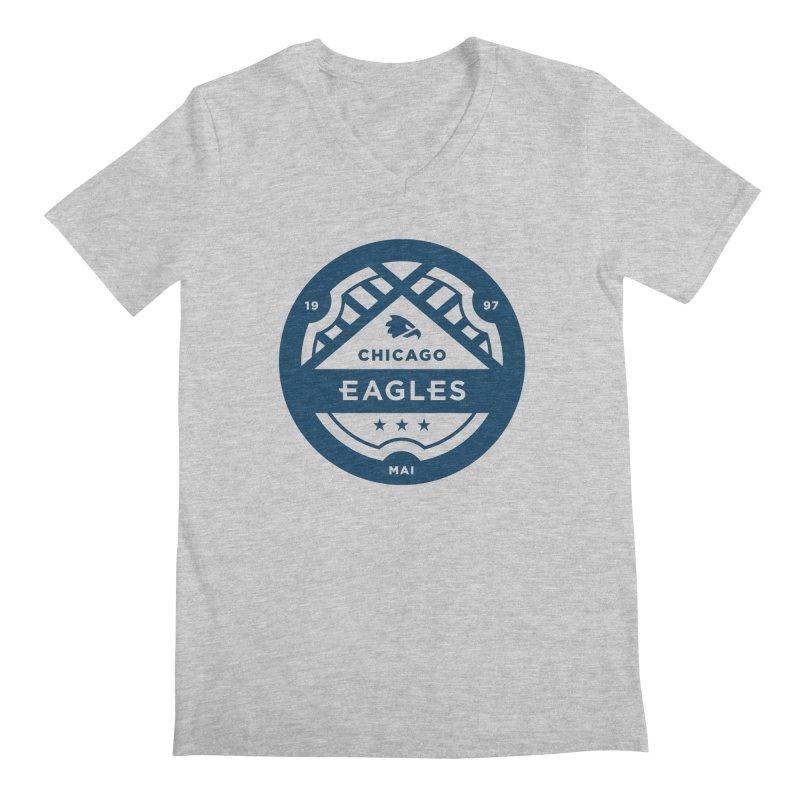 Navy Chicago Eagles Crest Men's Regular V-Neck by Chicago Eagles
