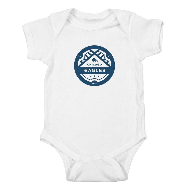 Navy Chicago Eagles Crest Kids Baby Bodysuit by Chicago Eagles