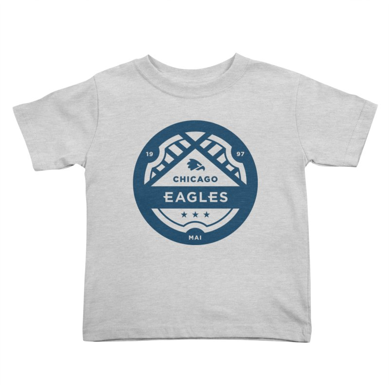 Navy Chicago Eagles Crest Kids Toddler T-Shirt by Chicago Eagles