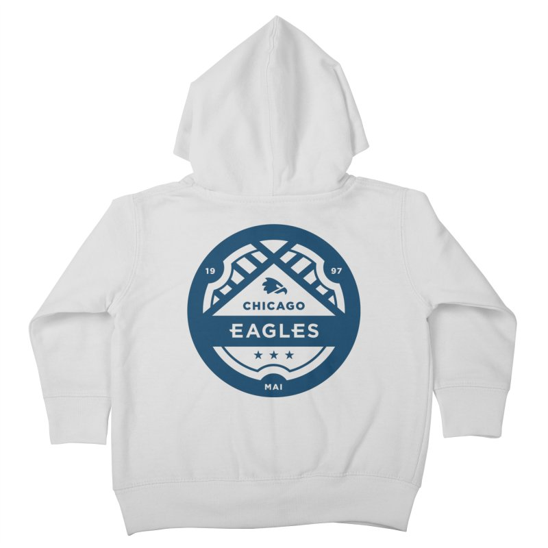 Navy Chicago Eagles Crest Kids Toddler Zip-Up Hoody by Chicago Eagles