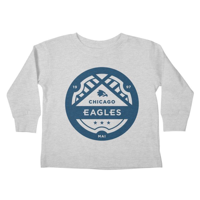 Navy Chicago Eagles Crest Kids Toddler Longsleeve T-Shirt by Chicago Eagles