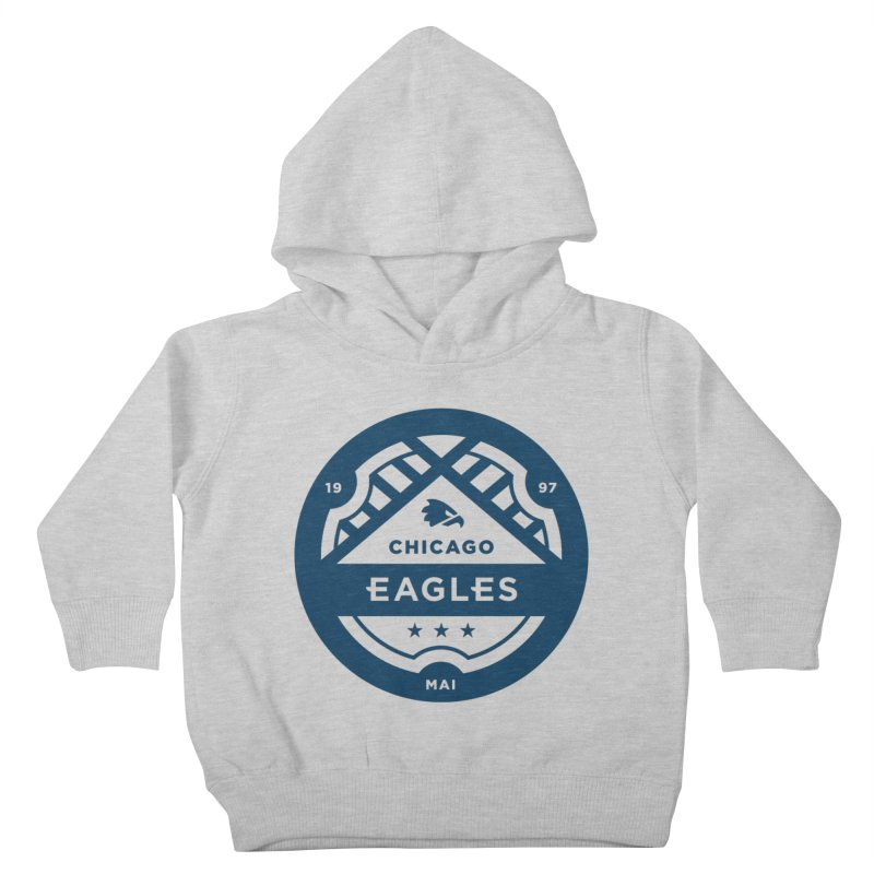Navy Chicago Eagles Crest Kids Toddler Pullover Hoody by Chicago Eagles