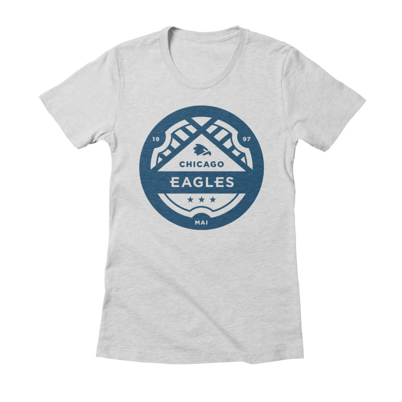 Navy Chicago Eagles Crest Women's Fitted T-Shirt by Chicago Eagles