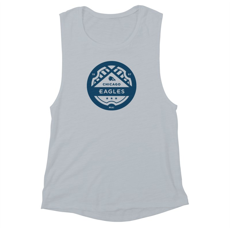 Navy Chicago Eagles Crest Women's Muscle Tank by Chicago Eagles