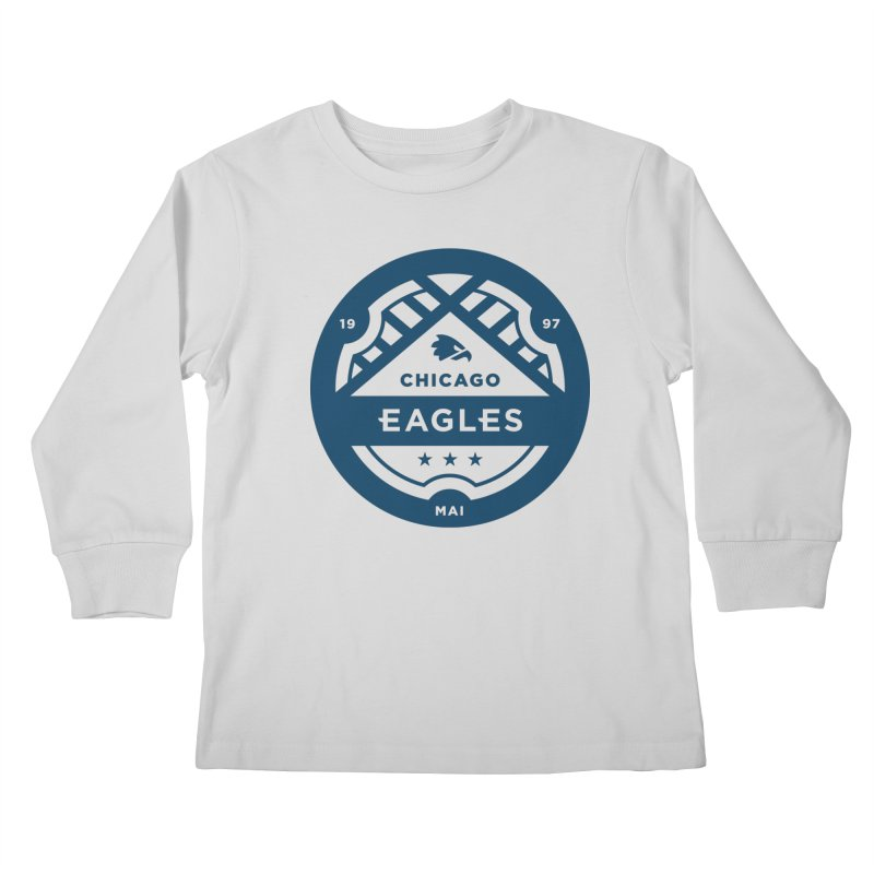 Navy Chicago Eagles Crest Kids Longsleeve T-Shirt by Chicago Eagles