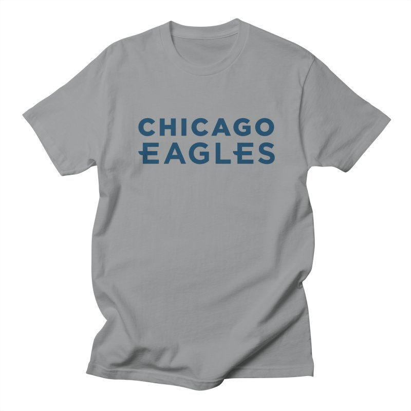 Navy Wordmark Men's Regular T-Shirt by Chicago Eagles