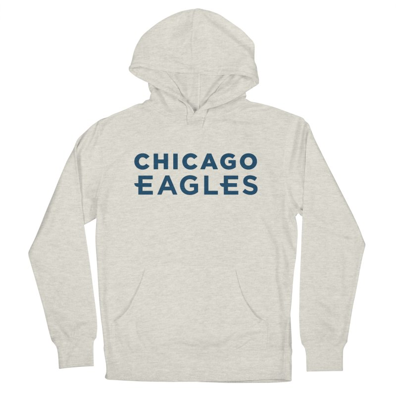 Navy Wordmark Men's French Terry Pullover Hoody by Chicago Eagles