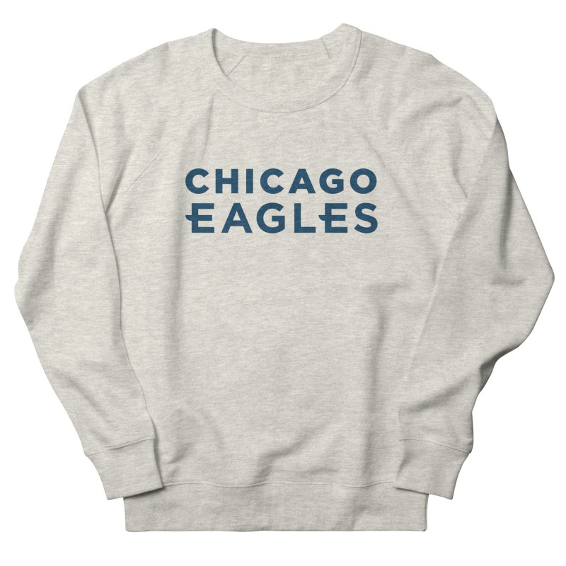 Navy Wordmark Women's French Terry Sweatshirt by Chicago Eagles